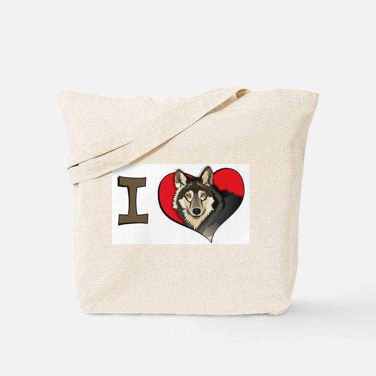 I heart wolves Tote Bag