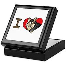 I heart wolves Keepsake Box