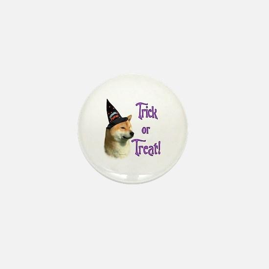 Shiba Trick Mini Button