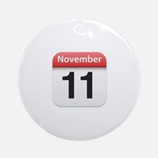 Apple iPhone Calendar November 11 Ornament (Round)