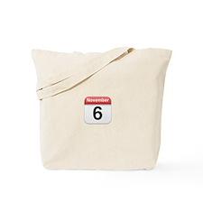 Apple iPhone Calendar November 6 Tote Bag
