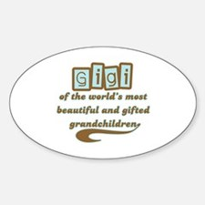 GiGi of Gifted Grandchildren Oval Decal