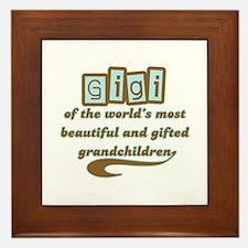 GiGi of Gifted Grandchildren Framed Tile