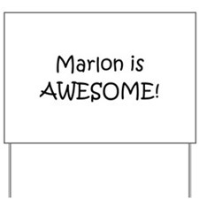 Cool Marlon Yard Sign