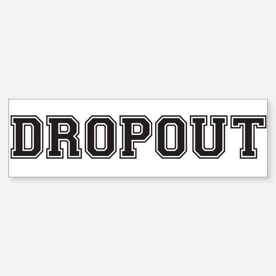 Dropout Bumper Car Car Sticker