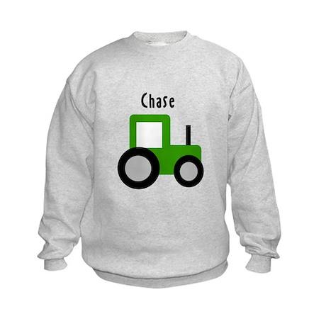 Chase - Green Tractor Kids Sweatshirt