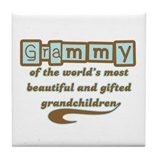 Grammy of Gifted Grandchildren Tile Coaster