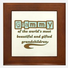 Grammy of Gifted Grandchildren Framed Tile