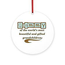 Grammy of Gifted Grandchildren Ornament (Round)