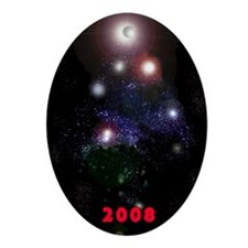 Star Tree Outer Space Oval Ornament