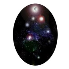 Galactic Tree Oval Ornament