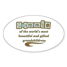 Grammie of Gifted Grandchildren Oval Decal