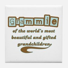 Grammie of Gifted Grandchildren Tile Coaster
