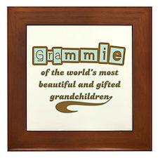 Grammie of Gifted Grandchildren Framed Tile