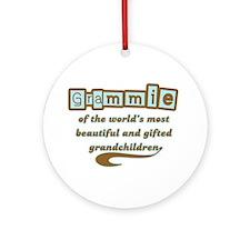 Grammie of Gifted Grandchildren Ornament (Round)
