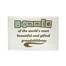 Grammie of Gifted Grandchildren Rectangle Magnet
