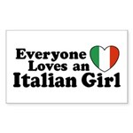 Everyone loves an italian girl Sticker (Rectangula