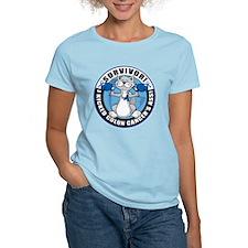 Colon Cancer Survivor: Boxing Cat T-Shirt