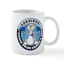 Colon Cancer Survivor: Boxing Cat Mug