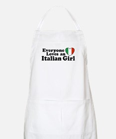 Everyone loves an italian girl BBQ Apron