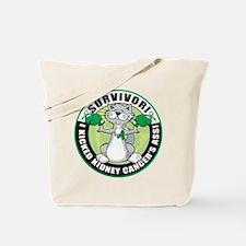 Kidney Cancer Survivor: Boxing Cat Tote Bag