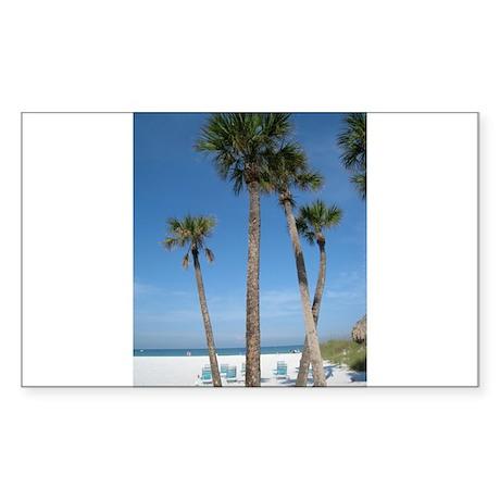 Beach Palms Rectangle Sticker