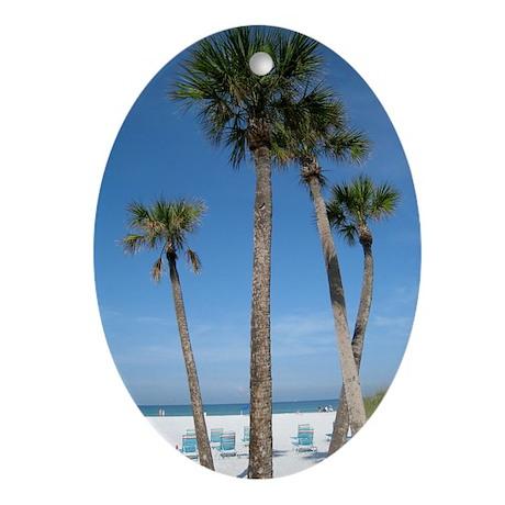 Beach Palms Oval Ornament
