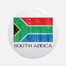 South Africa Flag Ornament (Round)
