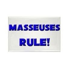 Masseuses Rule! Rectangle Magnet