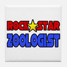 """Rock Star Zoologist"" Tile Coaster"