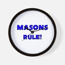Masons Rule! Wall Clock