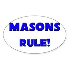 Masons Rule! Oval Decal