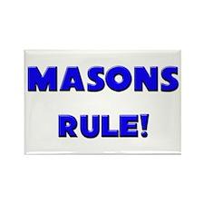 Masons Rule! Rectangle Magnet