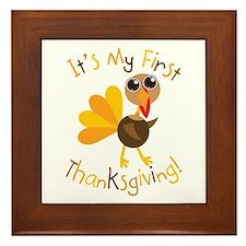 My First Thanksgiving Framed Tile