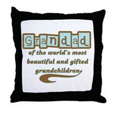 Grandad of Gifted Grandchildren Throw Pillow