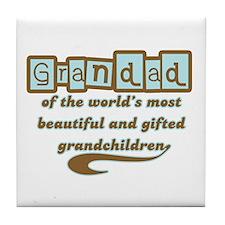 Grandad of Gifted Grandchildren Tile Coaster