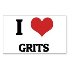 I Love Grits Rectangle Decal