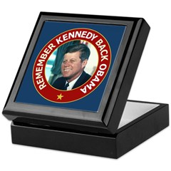 JFK Obama 2008 Keepsake Box