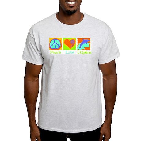 Peace Love Dolphins Light T-Shirt