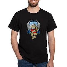Colon Cancer Heart & Dagger T-Shirt