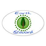 Earth Steward 2 Oval Sticker (50 pk)