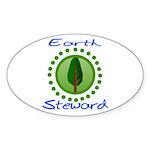 Earth Steward 2 Oval Sticker (10 pk)