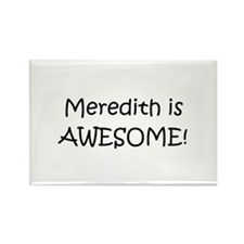 Cute I love meredith Rectangle Magnet