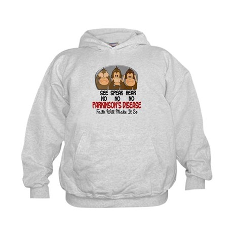 See Speak Hear No Parkinsons 1 Kids Hoodie
