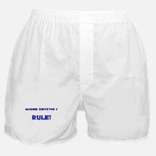 Marine Surveyor S Rule! Boxer Shorts