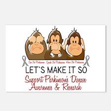 See Speak Hear No Parkinsons 2 Postcards (Package
