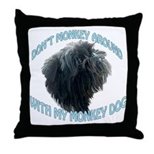 Monkey Dog Throw Pillow