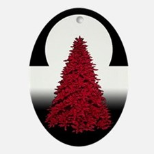 Peacekeeper Red Tree Oval Ornament