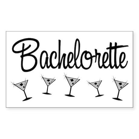 Black Multi Bachelorette Rectangle Sticker 50 pk)