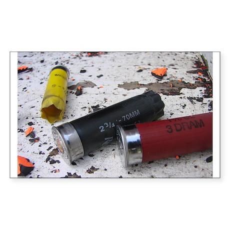 shotgun shells 2 Rectangle Sticker